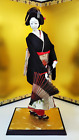 "Antique Japanese Geisha Doll in Kimono 17"" 43cm holding umbrella Vintage"
