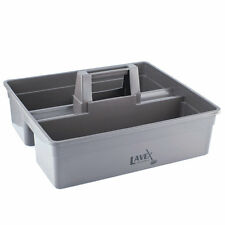 Lavex Janitorial 3 Compartment Gray Janitor Caddy - 16