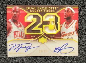 2007 Michael Jordan LeBron James Dual Autograph Card. Novelty Card Mint...