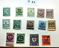 Mint Worldwide stamps lot # G 43 Germany unchecked for value