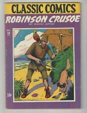 Classic Comics #10/Golden Age Gilberton Comic Book/Robinson Crusoe/FN