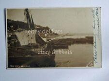 TRIESTE BARCOLA barca vela pescatori foto Sciutto vecchia cartolina