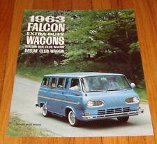 Original 1963 Ford Falcon Wagon Sales Brochure Station Bus Deluxe Club