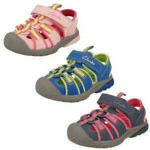 Childrens Unisex Clarks Closed Toe Sandals 'Beach Tide'