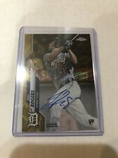 2020 Topps Chrome Gold Jake Rogers Auto RC #/50 Autograph Rookie Card Tigers