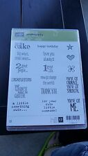 Stampin' Up Cling Mount Set Something to Say RETIRED!!
