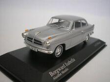 Borgward Isabella 1959 Aluminum Silver Metallic 1/43 minichamps 400096000 New