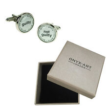 Mens Guilty Judge Joke Lawyer Cufflinks & Gift Box By Onyx Art