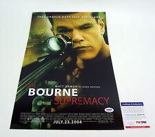 Matt Damon Signed Autograph The Bourne Supremacy Movie Poster PSA/DNA COA
