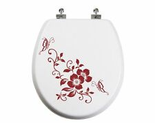 Flower + Buttefly Toilet Seat  Sticker Bathroom Home Wall Art Décor Animal Decal