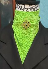 Stock Tie Bright Green Scroll Contour (Pin is not included)