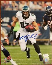 Brent Celek Autograph Signed Philadelphia Eagles 8x10 Photo JSA COA Holo Auto