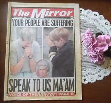 Princess Diana Your People Are Suffering UK newspaper funeral week photos Rare