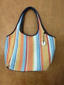 The SAK Knit Boho Hippie Beach Bag Shoulder Purse Crochet Durable