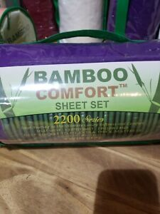 Bamboo  Comfort 2200 Series Luxury Sheet Set (4Pc) twin purple  w Deep Pockets
