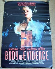 MADONNA STUNNING RARE DUTCH PROMO POSTER FOR THE 'BODY OF EVIDENCE' FILM IN 1993