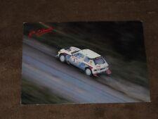 Juha KANKKUNEN - (1986) PEUGEOT 205 Turbo /New Zealand/, Karte/card 10x15 cm