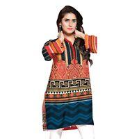PLUS SIZE- Women Indian Kurti Pakistani Kurta Cotton Digital Print Tunic Top 7XL