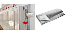 Radiator Reflector Foil Panel Energy Heat Saving Insulation Sheet & Adhesive (L)