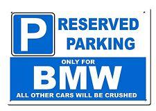 Segno Metallo GRANDE BMW-parcheggio riservato solo per... - Beamer m3 Taglia 20x30cm