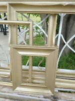 Vintage lot 5 PICTURE FRAME Recycle Arts Crafts Project Deco brush gold