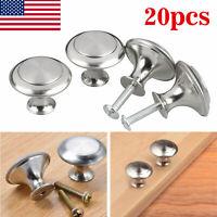 20Pcs Stainless Steel Bathroom Door Handles Drawer Pulls Knobs Kitchen Cabinet