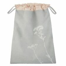 John Lewis Dandelion Grey & Peach Cotton Drawstring Laundry Bag CROFT Collection