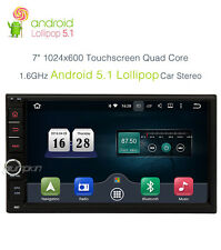 "7"" Quad-core Android 5.1 Car Radio GPS WIFI 1024*600 OBD2 3G TouchScreen NO DVD"