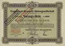 Engelhardt cervecería Berlin 1920 vorzugsaktie 1000 m Oetker Radeberg Königsberg