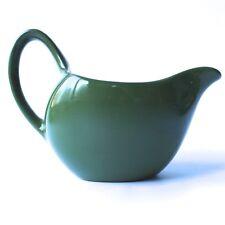 Vintage Midwinter Stylecraft Fashion Shape Milk Jug Creamer Olive Green