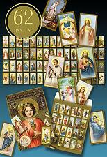 62 SCHÖNE ALTE HEILIGENBILDCHEN JESUS MARIA ENGEL 30er IN SCHÖNER TÜTE > SANTINI