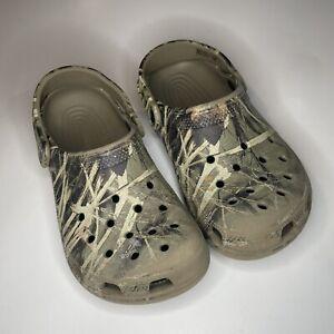 Crocs Unisex Camouflage Classic Clogs Shoes Size 2