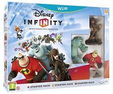 Nintendo Wii U WiiU Spiel Disney Infinity: Starter-Set mit 3 Einzelfiguren NEU