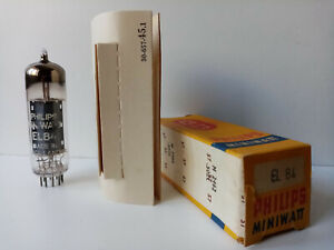 1 x Philips EL84 Rare tube  from Sittard Holland 1957, Square getter - NOS