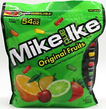 Mike and Ike Original Fruits Candy 54 oz Bag Candies Bulk Vending  OVER 3 LBS