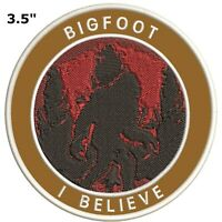 Bigfoot Lives Patch - Sasquatch in the Forest (Iron on) I BELIEVE Sasquatch