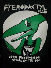 Pterodactyl Club New Black T-shirt,Originial logo closed club in Charlotte Nc