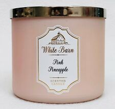 1 Bath & Body Works White Barn PINK PINEAPPLE Large 3-Wick Scented Candle 14.5oz