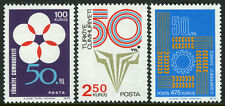 Turkey 1956-1958,MI 2301-2303,MNH.Turkish Republic, 50th ann. Flower,Torch,1973