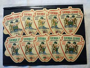 Sierra Leone, Mi.Nr. 427-436, Olympic Games Mexico, 1968, ** mnh