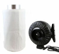"""Combo 6"""" Carbon Filter Hydroponics Inline Fan Air Blower leather Odor Control"""