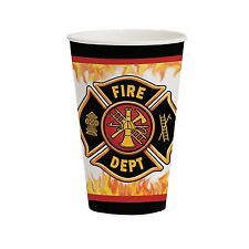 8 Fire Watch Firefighter Birthday Party Disposable 12oz Paper Cups