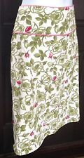 Juniors Skirt Studio Y Floral A Line Green White With Pink Roses Size 11