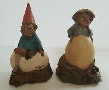 Tom Clark 1985 Gnome Debby & Chick Set of 2 Signed Vintage Figurine Retired