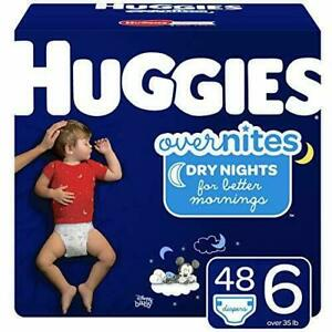Huggies Overnites Nighttime Diapers Size 6 48 Ct NEW IN BOX