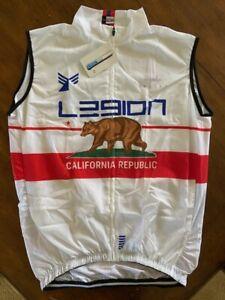 L39ION Cycling Team Jersey Rain Wind Vest XL Legion of Los Angeles California
