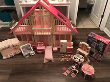 Vintage 1985 Mattel Barbie Dream House, Furniture, Accessories + Extras 98% Set