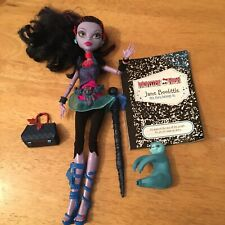 Monster High Jane Boolittle Doll With Clothes Bag Jewellery Pet Sloth Diary