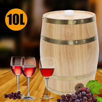 10L Pine Wooden Barrel Whiskey Wine Can Upright Liquid Storage Wine Barrel