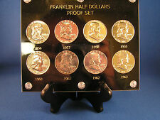 8 Benjamin Franklin Proof  Coins 1956 to 1963 Gem BU - 8 Coin Set